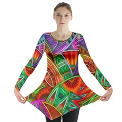 Happy Tribe Long Sleeve Tunic  by KirstenStar