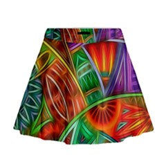 Happy Tribe Mini Flare Skirt by KirstenStar