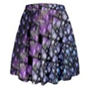 Dusk Blue and Purple Fractal High Waist Skirt View2