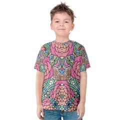 Petals, Carnival, Bold Flower Design Kid s Cotton Tee by Zandiepants