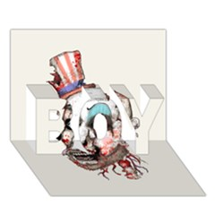 Captain Zombie Boy 3d Greeting Card (7x5) by lvbart