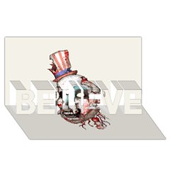 Captain Zombie Believe 3d Greeting Card (8x4)  by lvbart