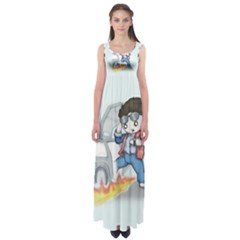 Back To The Plushie Future Empire Waist Maxi Dress