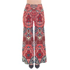 Petals, Pale Rose, Bold Flower Design Pants by Zandiepants