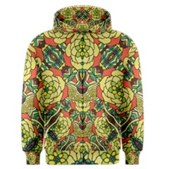 Petals   Retro Yellow   Bold Flower Design Men s Zipper Hoodie