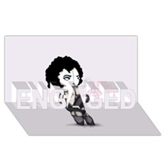 Rocky Horror Plush  Engaged 3d Greeting Card (8x4)  by lvbart