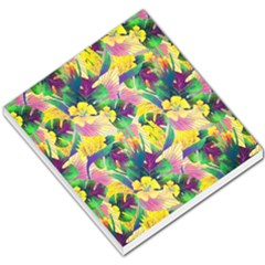 Tropical Flowers And Leaves Background Small Memo Pads by TastefulDesigns