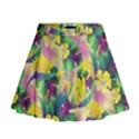 Tropical Flowers And Leaves Background Mini Flare Skirt View1