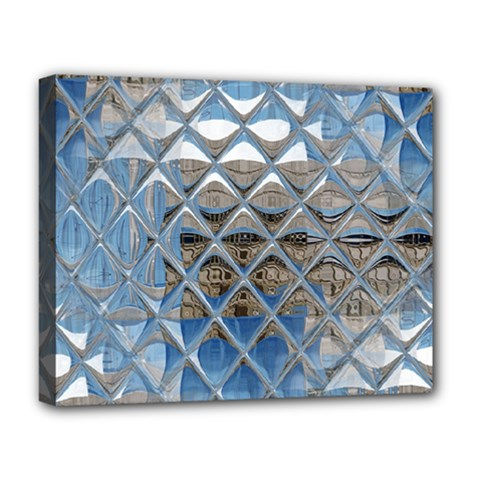 Mirrored Glass Tile Urban Industrial Deluxe Canvas 20  X 16   by CrypticFragmentsDesign