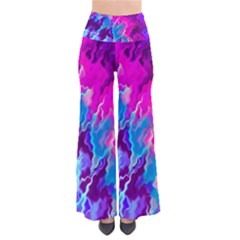 Stormy Pink Purple Teal Artwork Pants by KirstenStar
