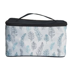 Turquoise Damask Pattern Cosmetic Storage Cases by Zandiepants