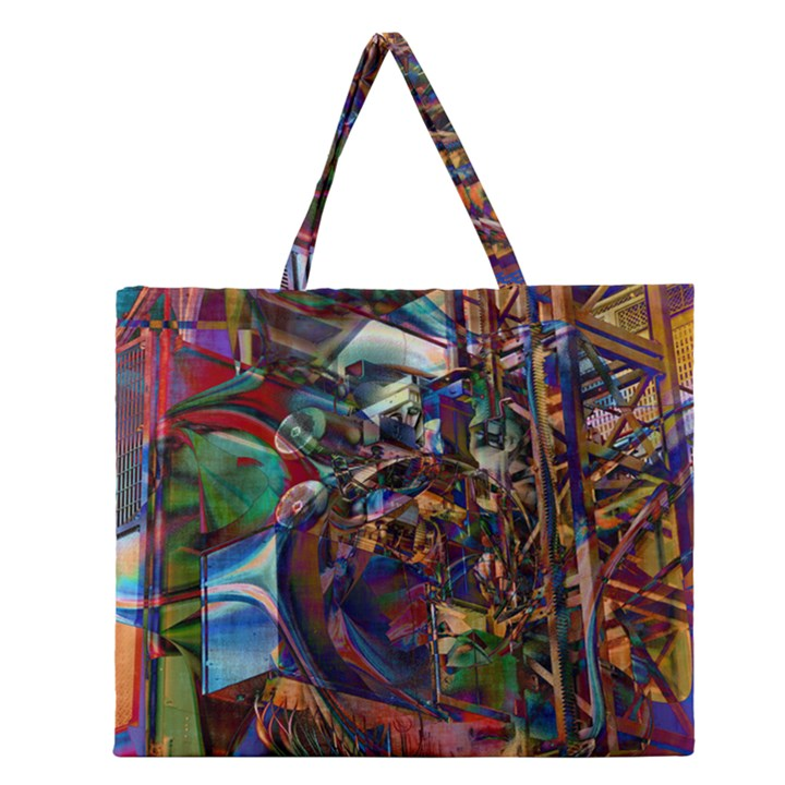 Las Vegas Nevada Ghosts Zipper Large Tote Bag