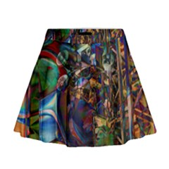Las Vegas Nevada Ghosts Mini Flare Skirt by CrypticFragmentsDesign