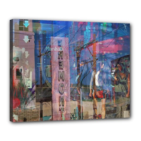 Las Vegas Strip Walking Tour Canvas 20  X 16  by CrypticFragmentsDesign