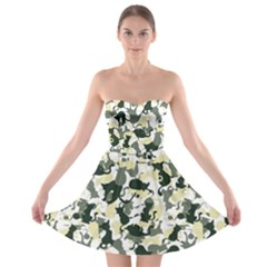 Camouflage Strapless Bra Top Dress by Wanni