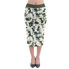 Camouflage Midi Pencil Skirt by Wanni