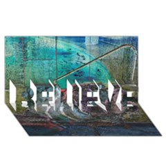 Vegas The Deep End  Believe 3d Greeting Card (8x4)  by CrypticFragmentsColors