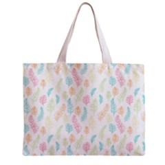 Whimsical Feather Pattern,fresh Colors, Zipper Mini Tote Bag