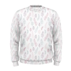 Whimsical Feather Pattern, Soft Colors, Men s Sweatshirt by Zandiepants
