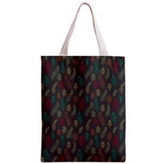 Whimsical Feather Pattern, Autumn Colors, Zipper Classic Tote Bag by Zandiepants