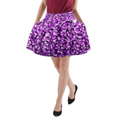 Purple Rain A Line Pocket Skirt by KirstenStar