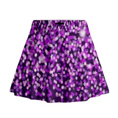 Purple Rain Mini Flare Skirt by KirstenStar
