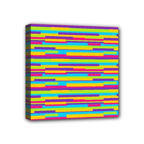 Colorful Stripes Background Mini Canvas 4  X 4  by TastefulDesigns