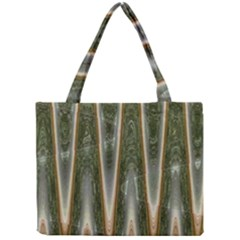 Green Brown Zigzag Mini Tote Bag by BrightVibesDesign