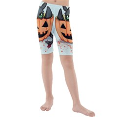 Halloween Dragon Kid s Mid Length Swim Shorts by lvbart