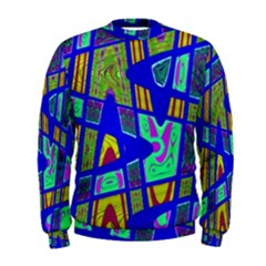 Bright Blue Mod Pop Art  Men s Sweatshirt by BrightVibesDesign