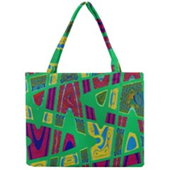 Bright Green Mod Pop Art Mini Tote Bag by BrightVibesDesign