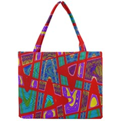 Bright Red Mod Pop Art Mini Tote Bag by BrightVibesDesign