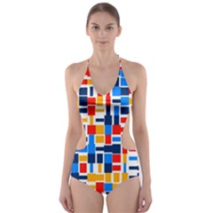 Colorful Shapes                                  Cut Out One Piece Swimsuit by LalyLauraFLM