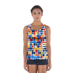 Colorful Shapes                                  Women s Sport Tank Top by LalyLauraFLM