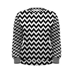 Black & White Zigzag Pattern Women s Sweatshirt