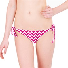 Hot Pink & White Zigzag Pattern Bikini Bottom by Zandiepants