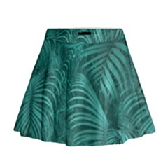 Tropical Hawaiian Print Mini Flare Skirt