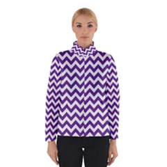Royal Purple & White Zigzag Pattern Winterwear by Zandiepants