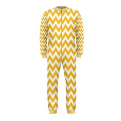 Sunny Yellow & White Zigzag Pattern Onepiece Jumpsuit (kids)