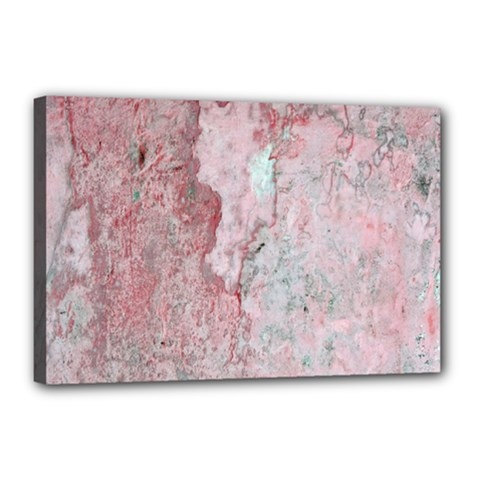 Coral Pink Abstract Background Texture Canvas 18  X 12  (stretched) by CrypticFragmentsDesign