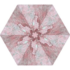 Coral Pink Abstract Background Texture Mini Folding Umbrella by CrypticFragmentsDesign