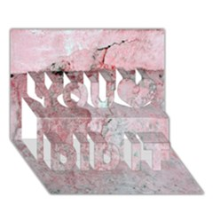Coral Pink Abstract Background Texture You Did It 3d Greeting Card (7x5) by CrypticFragmentsDesign