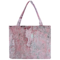 Coral Pink Abstract Background Texture Mini Tote Bag by CrypticFragmentsDesign