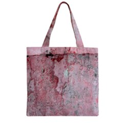 Coral Pink Abstract Background Texture Zipper Grocery Tote Bag by CrypticFragmentsDesign