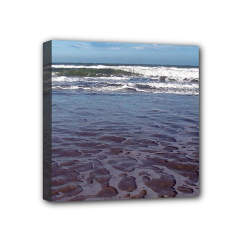 Ocean Surf Beach Waves Mini Canvas 4  X 4  by CrypticFragmentsColors
