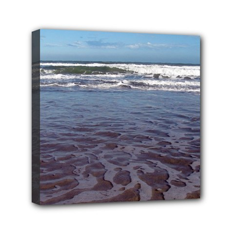 Ocean Surf Beach Waves Mini Canvas 6  X 6  by CrypticFragmentsColors