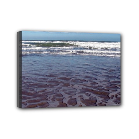 Ocean Surf Beach Waves Mini Canvas 7  X 5  by CrypticFragmentsColors