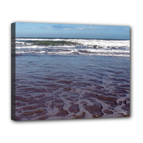 Ocean Surf Beach Waves Canvas 14  X 11  by CrypticFragmentsColors