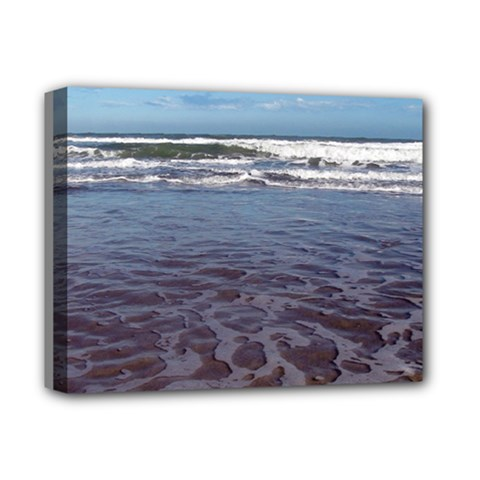 Ocean Surf Beach Waves Deluxe Canvas 14  X 11  by CrypticFragmentsColors