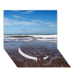 Ocean Surf Beach Waves Circle Bottom 3d Greeting Card (7x5)  by CrypticFragmentsColors